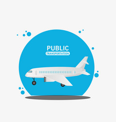 Air craft fly public transport vector