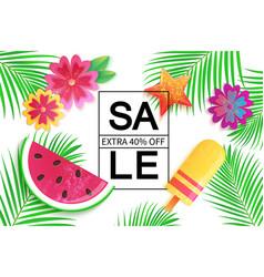 big summer sale background for banner wallpaper vector image