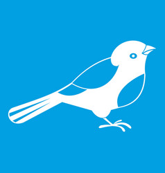 Bird icon white vector