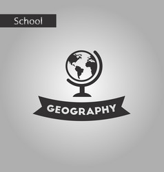 Black and white style icon geography lesson vector
