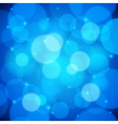 Blue bokeh effect abstract background vector