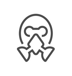 Chemical mask icon vector