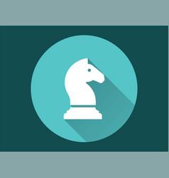 Chess horse icon vector