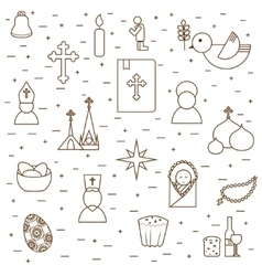 Christianity seamless background vector