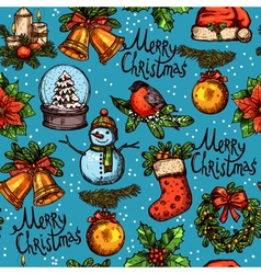 Christmas Color Seamless Pattern vector image vector image
