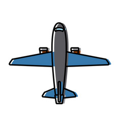 Commercial air shipping service delivery vector