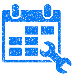 Configure timetable grunge icon vector