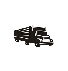 container truck cargo transport silhouette logo vector image