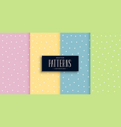 cute polka dots small patterns set in pastel vector image