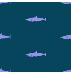 dark blue sea shark fish seamless pattern eps10 vector image vector image