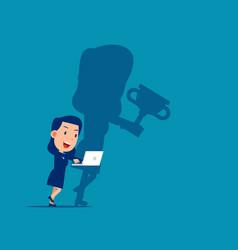 Diligent work makes success achievement business vector