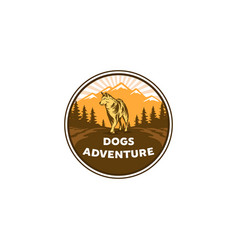 dogs adventures logo designs vector image