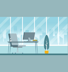 empty ceo office interior flat vector image