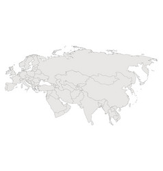 eurasia contour map countries and islands vector image