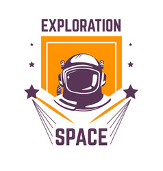 Exploration space isolated icon spaceman vector