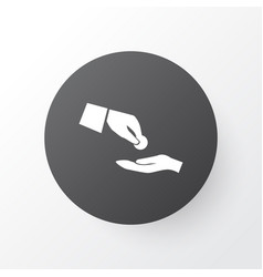 Financial assistance icon symbol premium quality vector