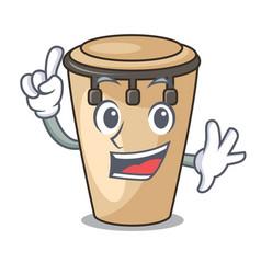 Finger conga mascot cartoon style vector