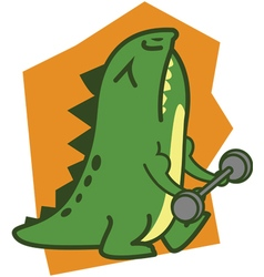 Fitness Crocodile vector image