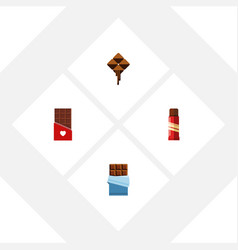 flat icon bitter set of chocolate bitter sweet vector image