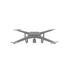 flat icon of flying quadcopter dark gray vector image