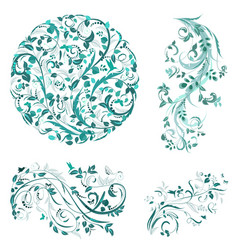 Flourish collection of patterns for your design vector