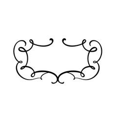 flourish vintage calligraphy frame swirl vector image