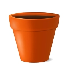 Flowerpot with ground vector