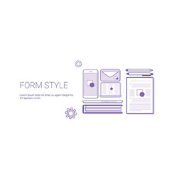 Form style business concept template web banner vector