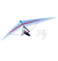 glider extreme sport human pilot fly on hang wing vector image