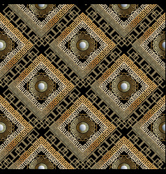 greek geometric ornamental seamless pattern vector image