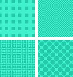 Green abstract geometric shape wallpaper set vector