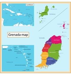 Grenada map vector image