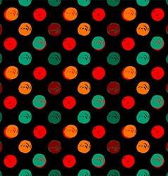 Hand Drawn Polka Dots Seamless Texture vector