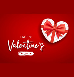 happy valentines day message with gift box vector image