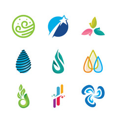 icons or symbols natural energy vector image