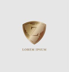 Letter z alphabet logo design template luxury vector