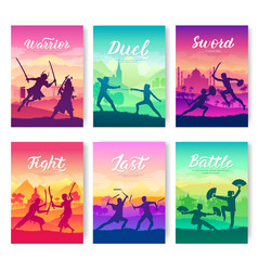 Martial arts of different nations of the world vector