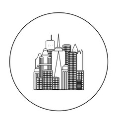 Megalopolis icon in outline style isolated on vector