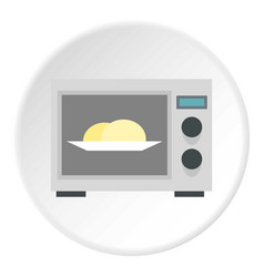 Microwave icon circle vector