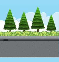 Nature roadside view landscape vector