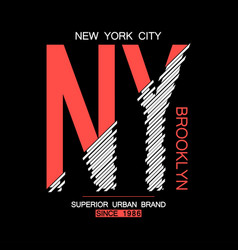 Nyc modern t-shirt vector