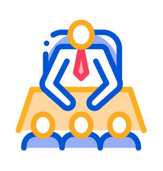 office meeting icon outline vector image