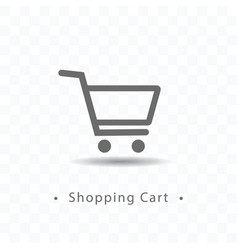 Outlined shopping cart icon vector