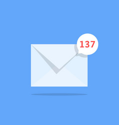 Overflowing mailbox like white notification email vector