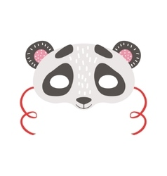 Panda Bear Animal Head Mask Kids Carnival vector image