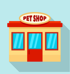 pet street shop icon flat style vector image