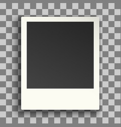 photo frame retro vintage style mock up template vector image