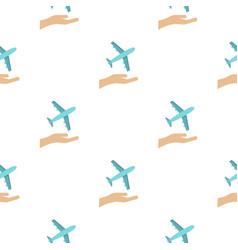 Plane logo flat style vector