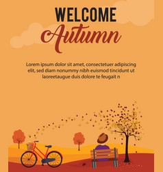 poster design layout with autumn theme vector image