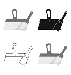 putty knives icon in cartoon style isolated on vector image